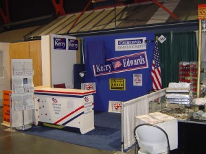 California Democratic Party's State Fair Booth 2004